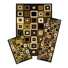 Capri SW Tiles 3 Piece Rug Set
