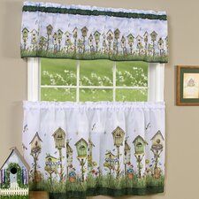 "Home Sweet Home 58"" Valance and Tier Set"