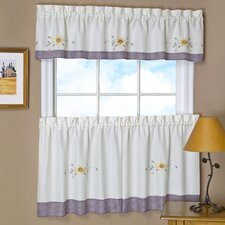 """Amy Embellished 58"""" Valance and Tier Set"""
