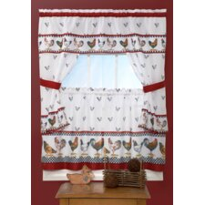 "Top of the Morning Cottage 57"" Valance and Tier Set"