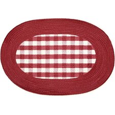 Buffalo Check Burgundy Rug