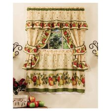 "Apple Orchard Cottage 57"" Valance and Tier Set"