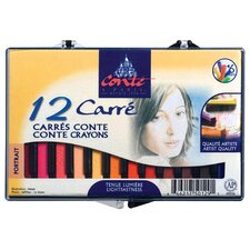 Portrait Color Pastel Crayons (Set of 12)
