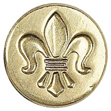 Decorative Sealing Fleur De Lis Wax Coin