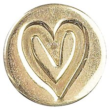 Decorative Heart Sealing Wax Coin