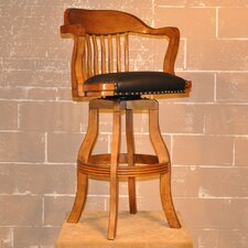 "<strong>ECI Furniture</strong> Burnished Oak 30"" Bar Stool with Cushion"