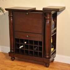 Rustic Williamsburg Bar Cabinet