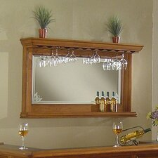 Manchester Bar Mirror in Burnished Oak