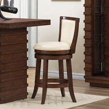 Bristol Walnut Swivel Bar Stool with Cushion
