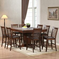 Tiled Counter Height 9 Piece Dining Set