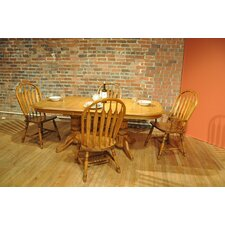 Burnished Oak Finish Laminate Dining Collection