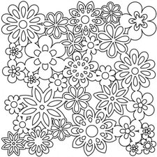 Gathered Flower Template