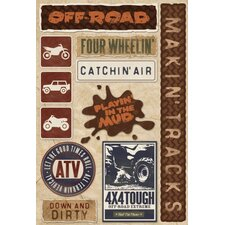 Cardstock Stickers Off Road