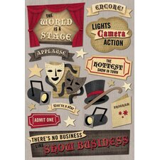 Cardstock Stickers Show Business