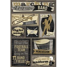 Cardstock Stickers Marching Band