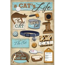 Cardstock Stickers A Cats Life