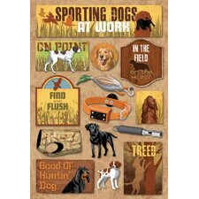 Cardstock Stickers Sporting Dog