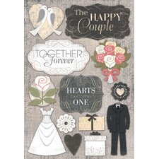 Cardstock Stickers Happy Couple