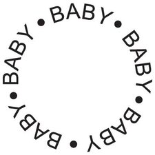 Mounted Rubber Baby Circle Stamp