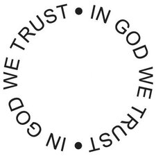 Mounted Rubber In God We Trust Circle Stamp