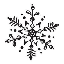 Mounted Rubber Snowflake Stamp