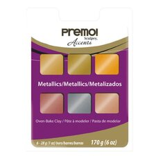 Premo Polymer Clay (Set of 6)