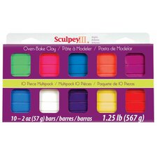<strong>Sculpey</strong> Polymer Clay (Set of 10)