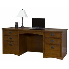 <strong>kathy ireland Home by Martin Furniture</strong> Wood Double Pedestal Executive Desk
