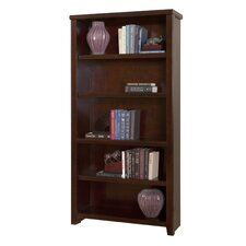 Tribeca Loft Cherry 5-Shelf Wood Bookcase