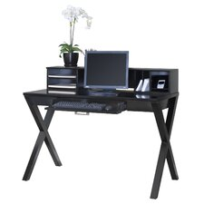 "Worx Onyx Office 8"" H x 47.5"" W Desk Hutch"
