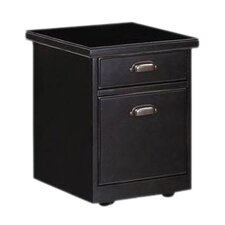 Tribeca Loft Black 2-Drawer Mobile Rolling File