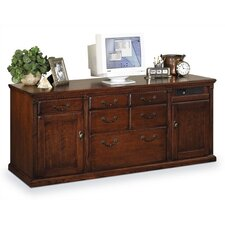 "<strong>kathy ireland Home by Martin Furniture</strong> Huntington Club 69"" W Storage Credenza with Hutch"