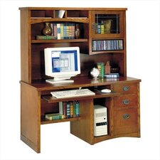 California Bungalow Deluxe Computer Desk and Organizer Hutch