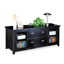 <strong>kathy ireland Home by Martin Furniture</strong> Tribeca Loft Black Storage Credenza