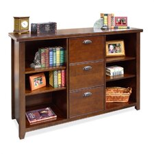 "Tribeca Loft 41"" H Cherry Three-Drawer File/Bookcase"