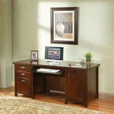 <strong>kathy ireland Home by Martin Furniture</strong> Tribeca Loft Cherry Double Pedestal Computer Desk