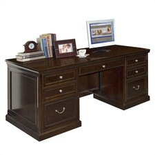 <strong>kathy ireland Home by Martin Furniture</strong> Fulton Double Pedestal Executive Desk
