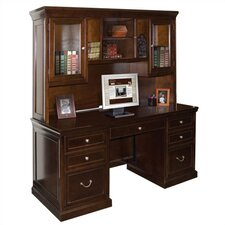 <strong>kathy ireland Home by Martin Furniture</strong> Fulton Computer Credenza with Hutch