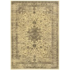 <strong>eCarpet Gallery</strong> Summer Classic Cream Flora Medallion Corners Rug