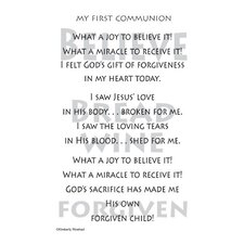 Poems For A Page 1st Communion Sticker