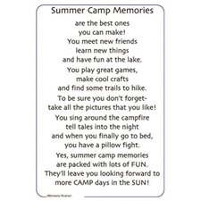 Poems For A Page Summer Camp Sticker