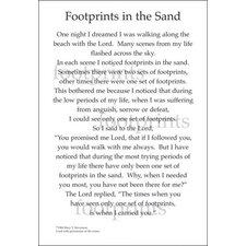Poems For A Page Foot Prints In The Sand Sticker