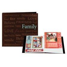 Faux Suede Family Scrapbook