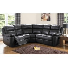 Kansas Bonded Leather 5 Seater Reclining Corner Sectional Sofa