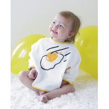 <strong>Oots</strong> Organic Bib Set in Frying Egg and Baby Boy Blue