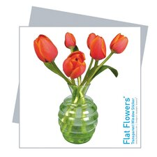 Flat Flowers Window Stickers Originals in Tulip