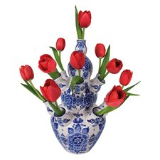 Flat Flowers Delft Tulip Window Sticker (Set of 2)