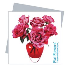 Flat Flowers Greetings in Roses Mix Heart (Set of 6)