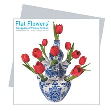 Flat Flowers Greetings in Delft Tulip (Set of 6)