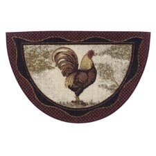 Tall Rooster Kitchen Rug